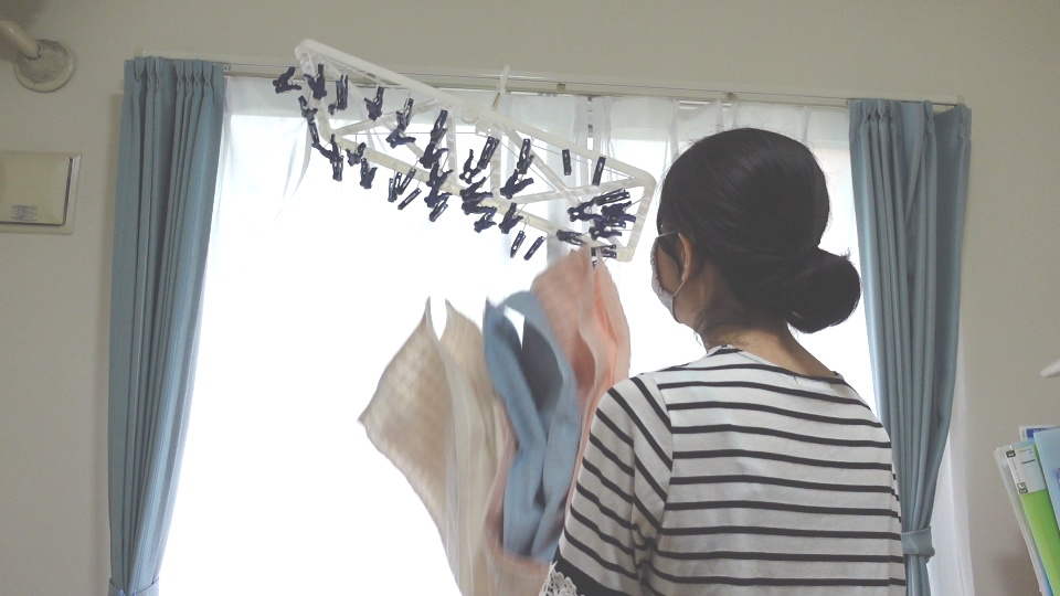 洗濯取り込み